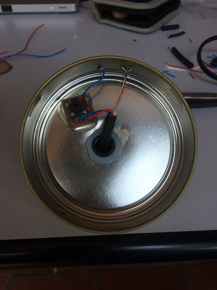 Locus Sonus Hydrophone Or This If You Secured It With Hot Glue And Used A Circuit Board The Box Pipe Tobacco Was Slighty Coated Needed To Be Scraped Before Soldering On Preamplifier Is Glued